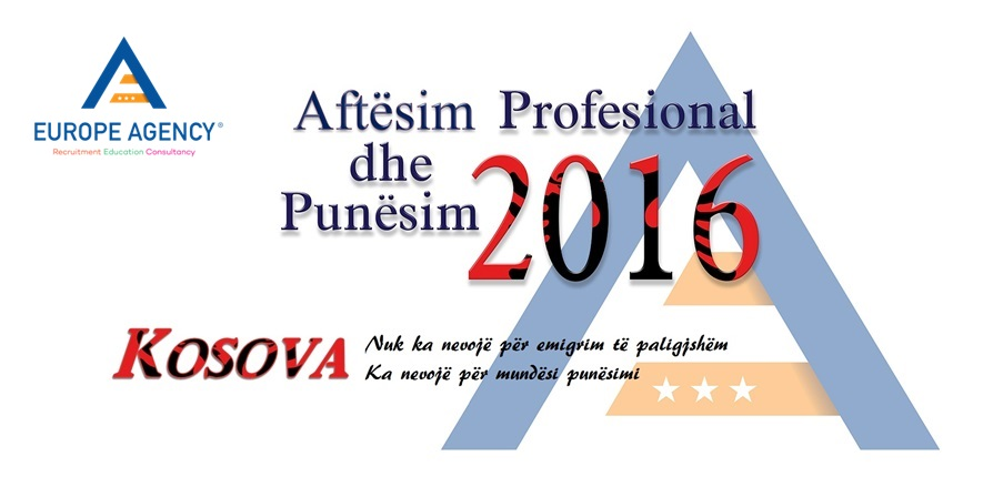 Europe Agency – Aftesim Profesional & Punesim Kosove